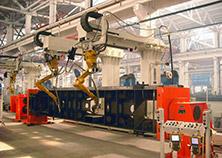 汽车起重机车架后段机器人焊接系统