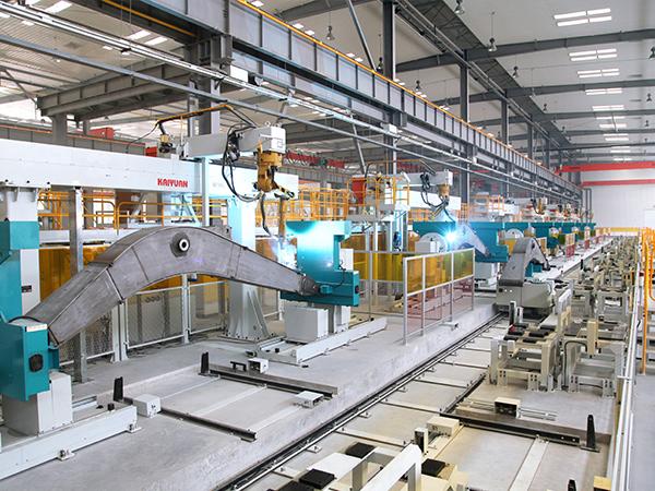 中厚板智能化柔性焊接生产线