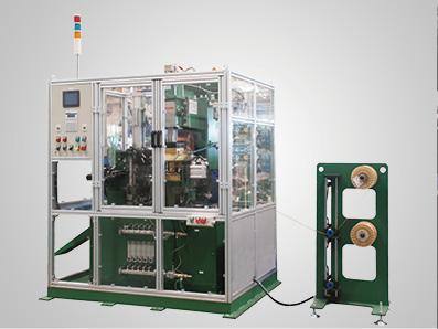铜编织线自动热压成型机