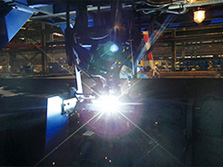 Double torches high speed MAG welding process for T profile