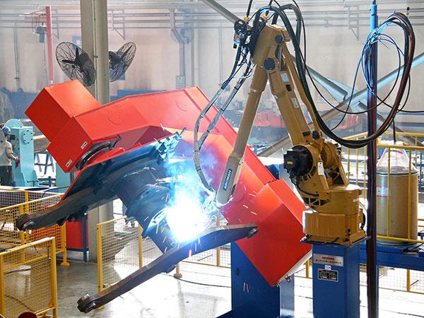 动臂机器人焊接系统<双丝双工位>