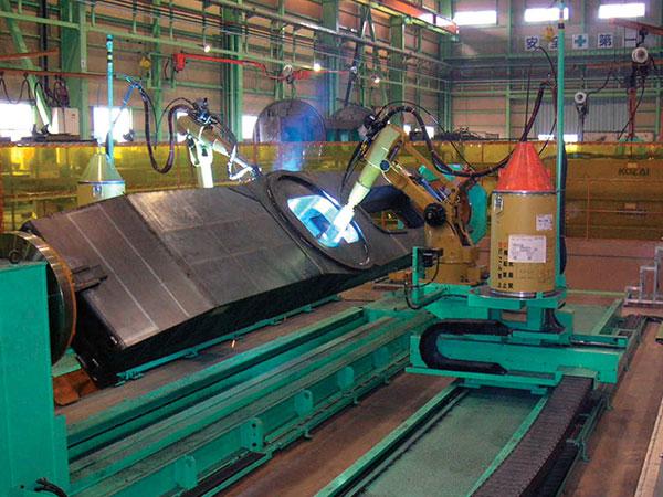 汽车起重机-车架机器人焊接系统