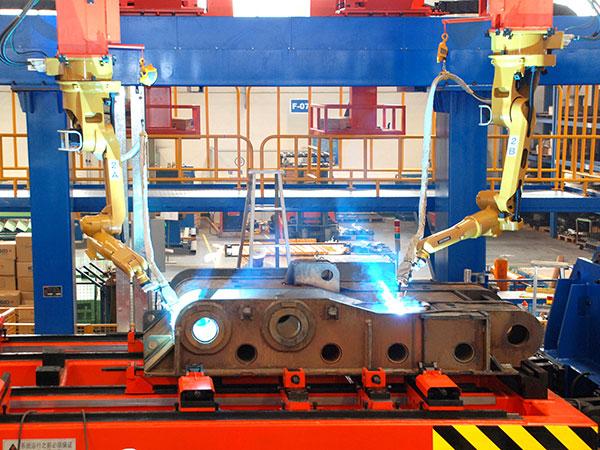 掩护梁机器人焊接系统