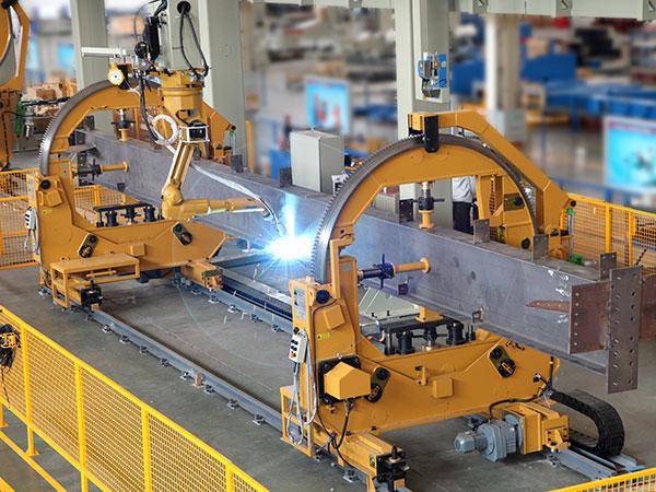 H型柱隔板、牛腿组装机器人焊接系统