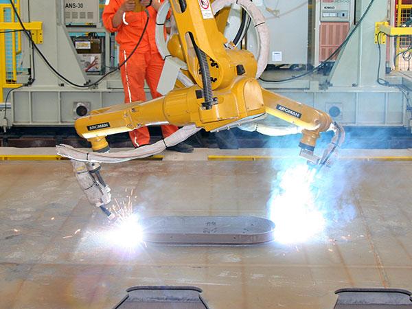 横隔板单元机器人焊接系统-圆弧焊接