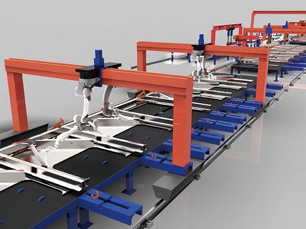 敞车侧墙智能化柔性焊接生产线