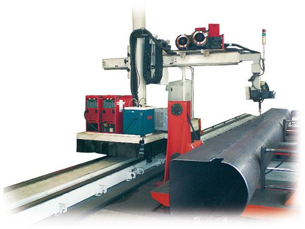 吊臂高效双丝自动焊接系统