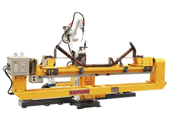 单机器人托辊支架自动焊接系统