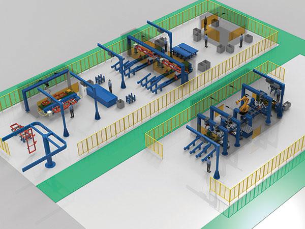 旋耕刀和框架机器人焊接系统