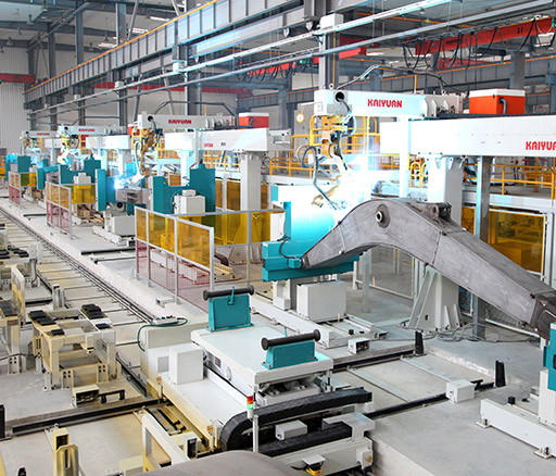 Medium/Thick Plate Intelligent Flexible Welding Line