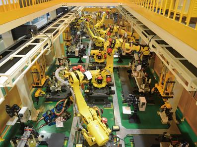 汽车门槛外板总成机器人点焊生产线