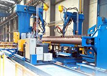 海洋鉆井平臺樁腿焊接生產線
